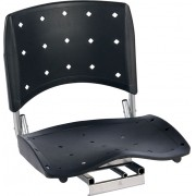 Cadeira P/ Barco Giratória E Dobrável C/ Assento Pvc Rígido - Preto