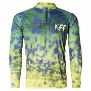 Camiseta King Sublimada Verde/Amarelo/Azul (KFF31)