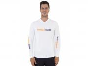 Camiseta Mar Negro Fishing Poliamida c/ Capuz e Luvinha - Branco