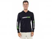 Camiseta Mar Negro Fishing Poliamida c/ Capuz e Luvinha - Preto