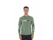 Camiseta Mar Negro Fishing Poliamida c/ Capuz e Luvinha - Verde Musgo