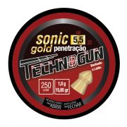 Chumbinho Technogun Sonic Gold 5.5mm (Lata c/ 250 un)