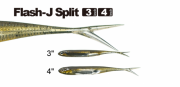 Isca Fish Arrow Flash-J Split 3''