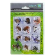 Kit Iscas Artificiais de Fly Fishing (12 unidades)