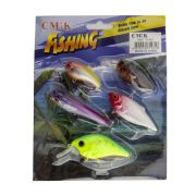 Kit Iscas Artificiais Fishing CMIK (5 unidades)