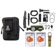 Kit Sobrevivência de Emergência com Bolsa TZ-3 (17 Itens)
