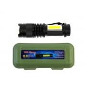 Lanterna de Mão LED com Carregamento USB e LED Lateral