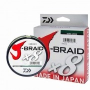 Linha Multifilamento Daiwa J-Braid X8 Dark Green (150mt)