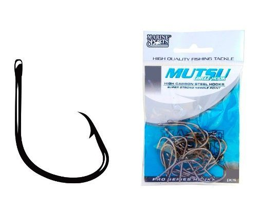 Anzol Marine Sports Mutsu Black Nickel (cartela)  - Comprando & Pescando