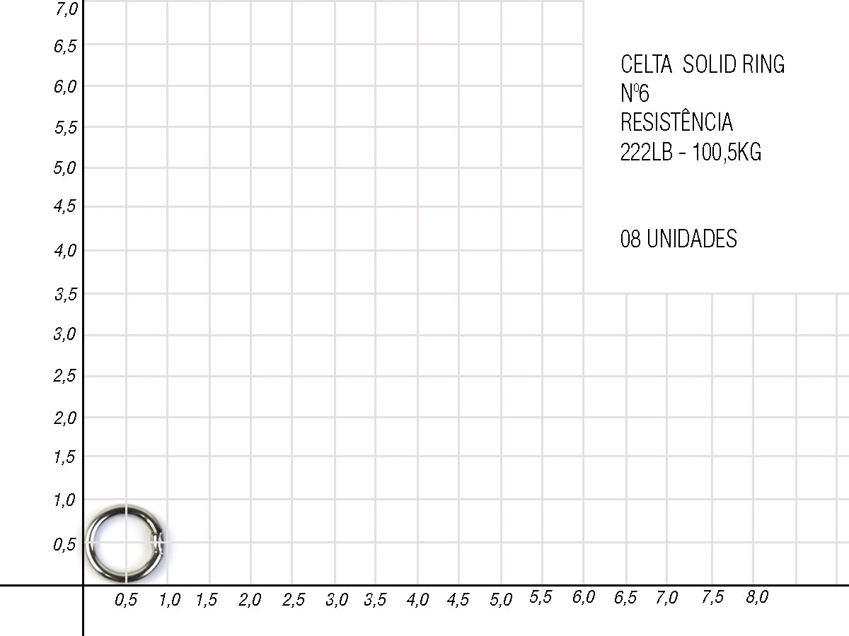 Argola Solid Ring Simples Celta - Nickel CT1025  - Comprando & Pescando