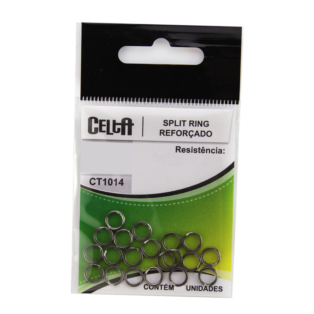 Argola Split Ring Celta Reforçado - Nickel CT1014  - Comprando & Pescando