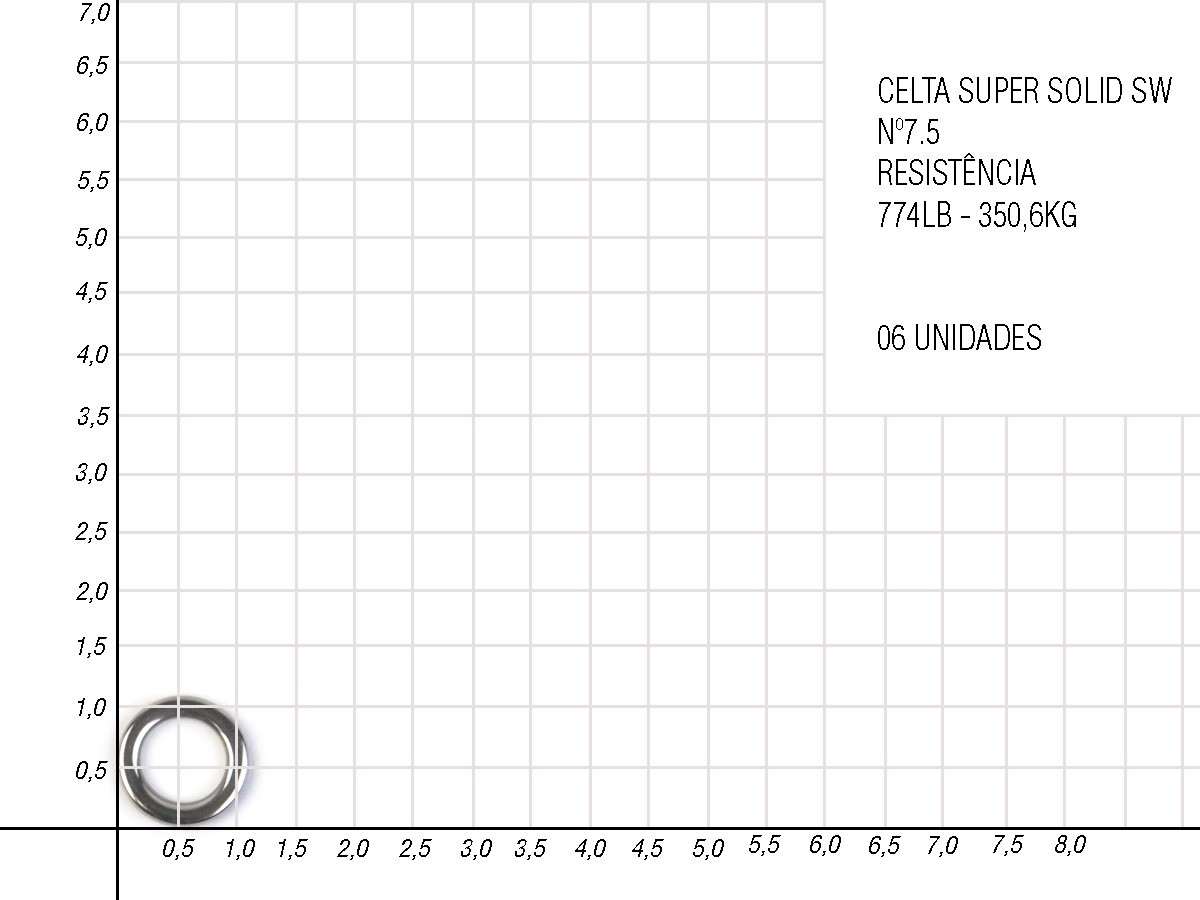 Argola Super Solid Ring Swnikel Celta - Nickel CT3020  - Comprando & Pescando