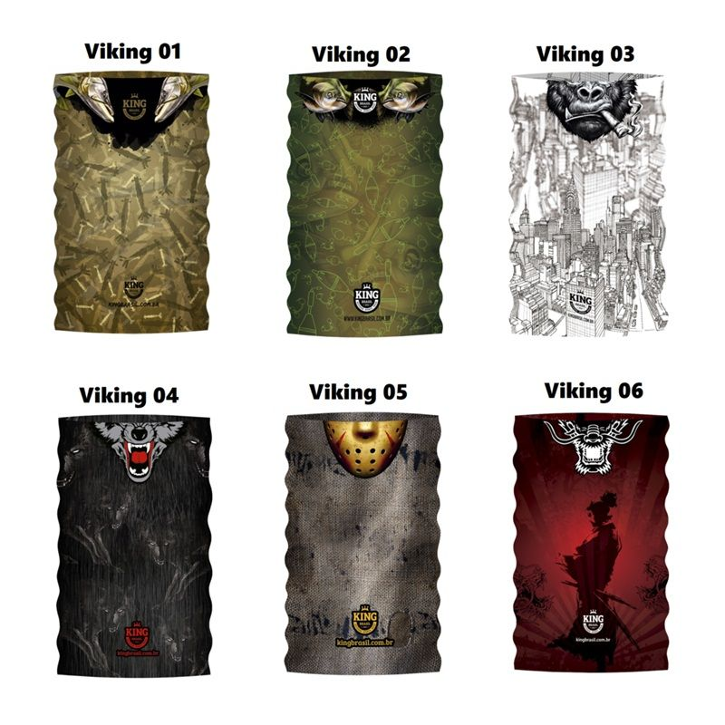 Bandana de Proteção Solar King Brasil Viking - Várias Estampas - Comprando    Pescando ... 1a29cd57e826a