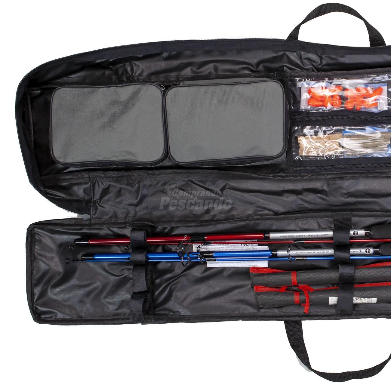 Bolsa Estojo Luxo para Varas e Acessórios 1,30m  - Comprando & Pescando