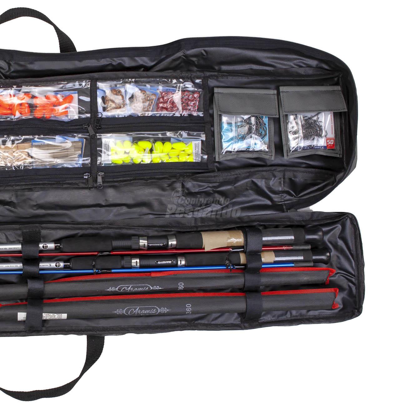Bolsa Estojo Luxo para Varas e Acessórios 1,50m  - Comprando & Pescando