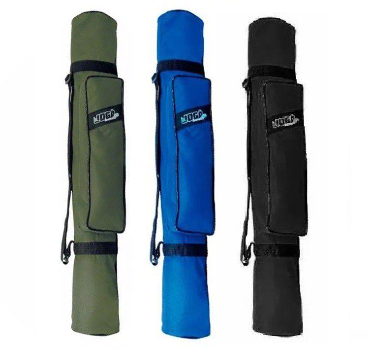 Bolsa Porta Vara com Bolso Jogá Pesca (0,80mts) Verde, Preto e Azul  - Comprando & Pescando