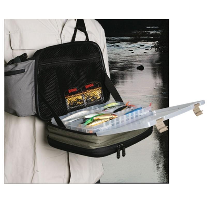 Bolsa Rapala Tiracolo Sling Bag c/ 2 estojos 3600  - Comprando & Pescando