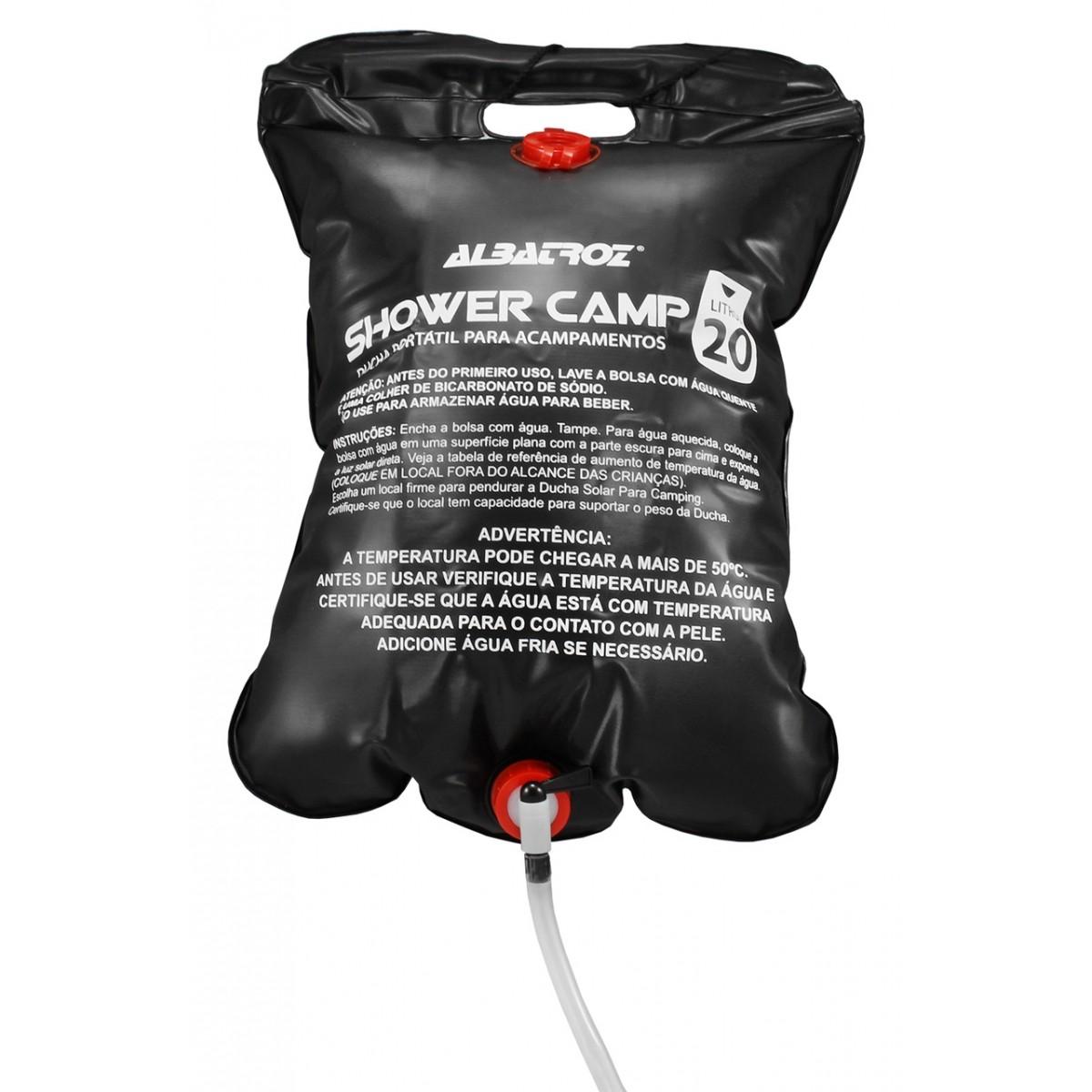 Bolsa Shower Chuveiro para Camping Albatroz  - Comprando & Pescando
