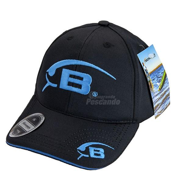Boné Bomber Bordado Azul  - Comprando & Pescando