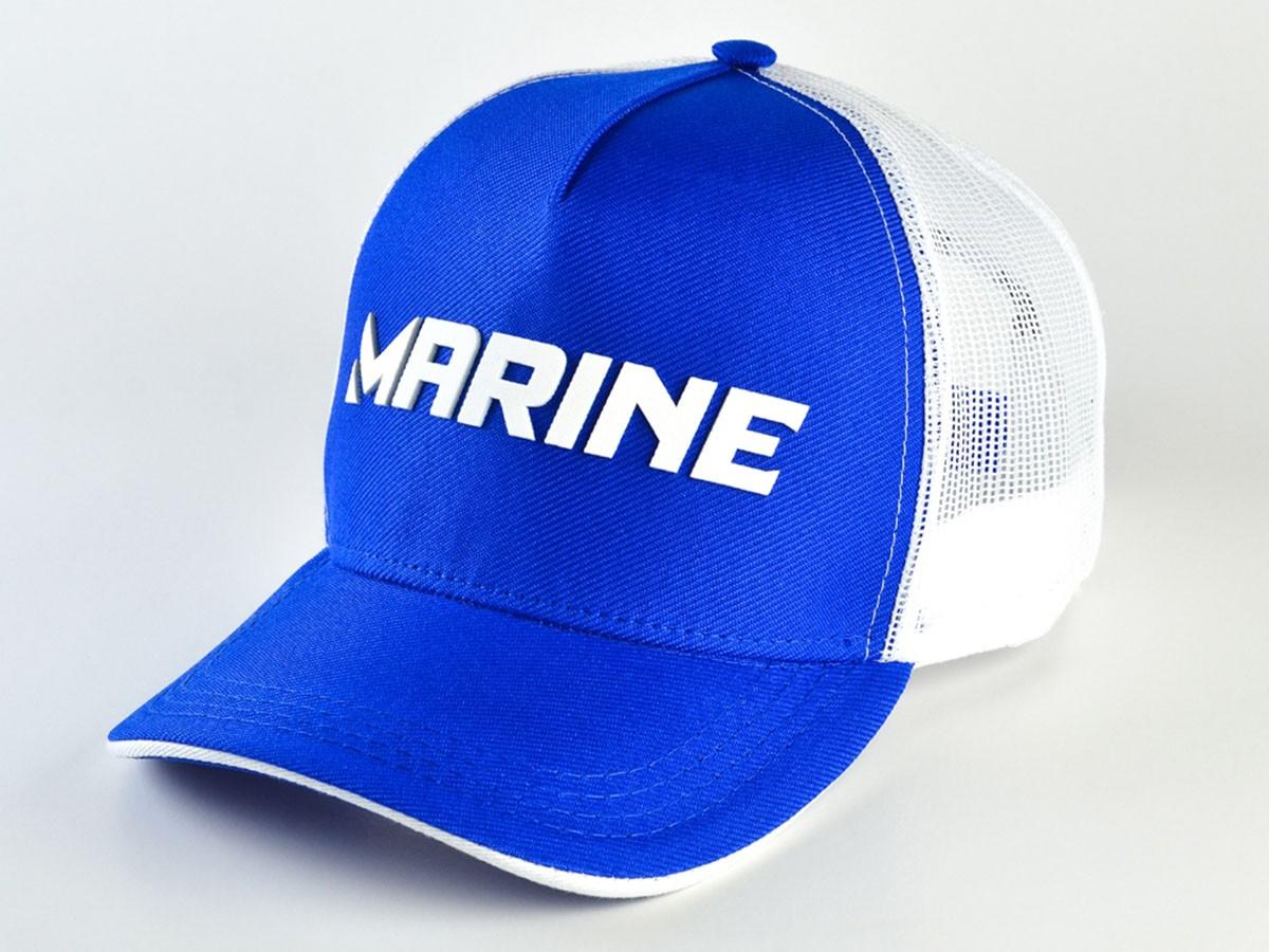 Boné Marine Sports Americano Pescador Azul  - Comprando & Pescando
