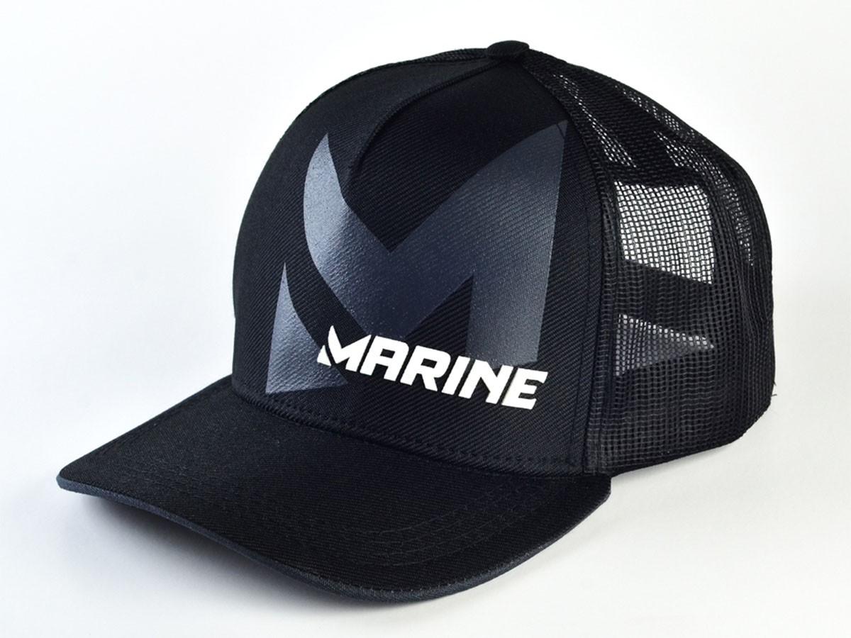 Boné Marine Sports Americano Preto  - Comprando & Pescando