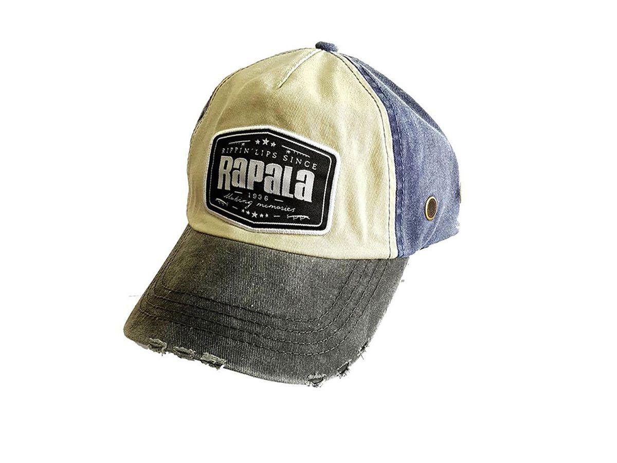 Boné Rapala Azul e Aba Cinza  - Comprando & Pescando