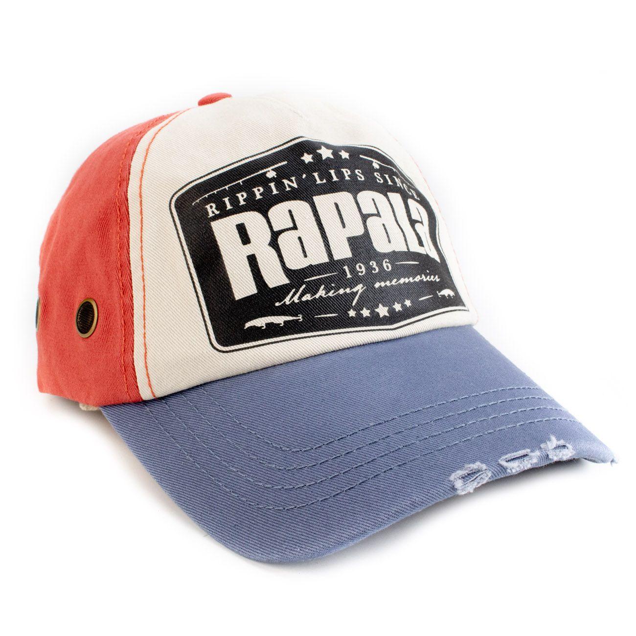 Boné Rapala Azul, Vermelho e Preto (American)  - Comprando & Pescando