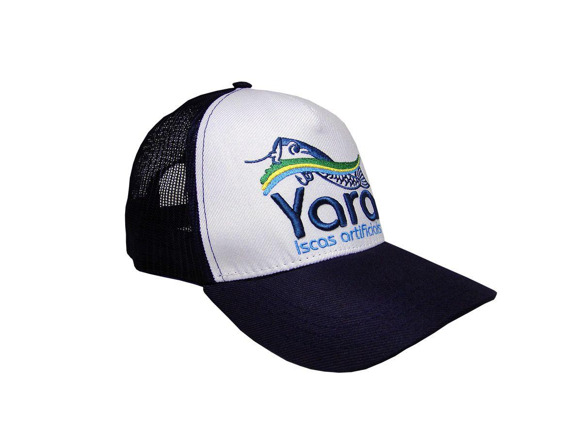Boné Yara Trucker Aba Curva Tela  - Comprando & Pescando