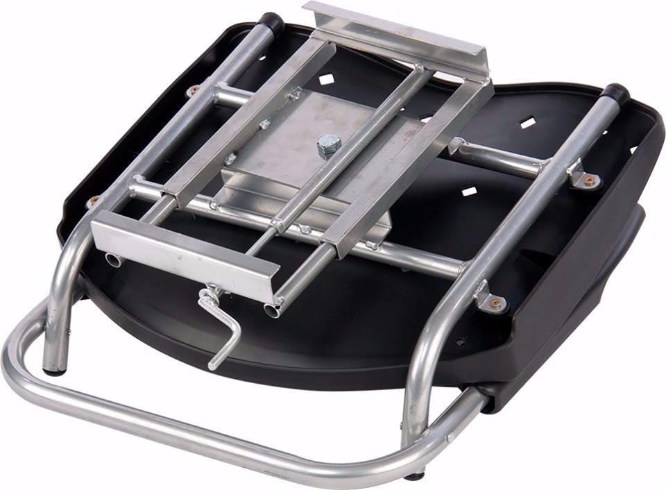 Cadeira P/ Barco Giratória E Dobrável C/ Assento Pvc Rígido - Cinza  - Comprando & Pescando
