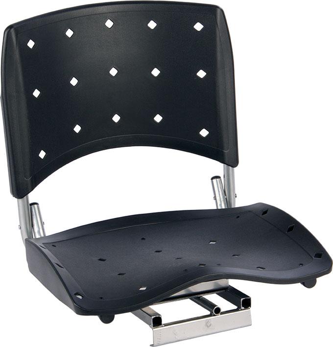 Cadeira P/ Barco Giratória E Dobrável C/ Assento Pvc Rígido - Preto  - Comprando & Pescando