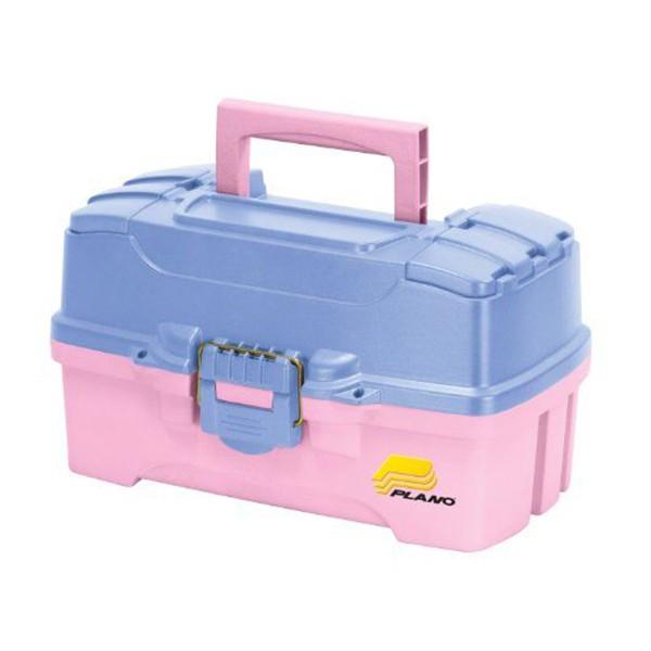 Caixa Plano 6202-92 com 2 bandejas Rosa  - Comprando & Pescando