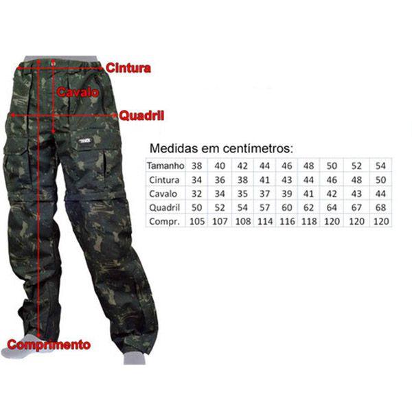 Calça MTK Amazon Vira Bermuda Camuflada Cinza  - Comprando & Pescando