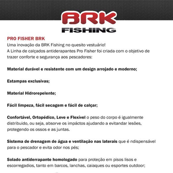 Calçado BRK Pro Fisher Babuche Antiderrapante Camo Masked  - Comprando & Pescando