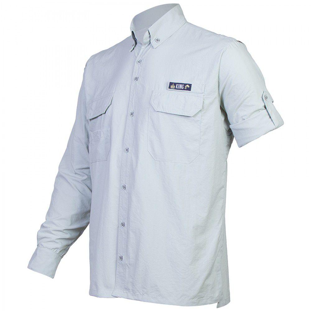 Camisa King Antares Gelo  - Comprando & Pescando