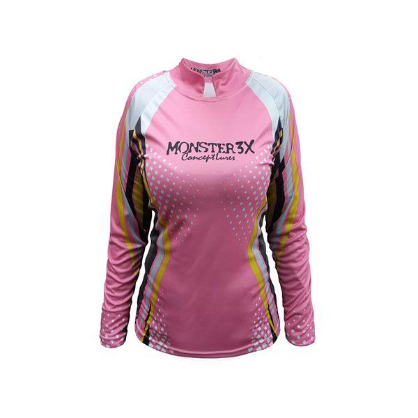 Camisa New Fish Feminina Monster 3X - Nova Coleção  - Comprando & Pescando