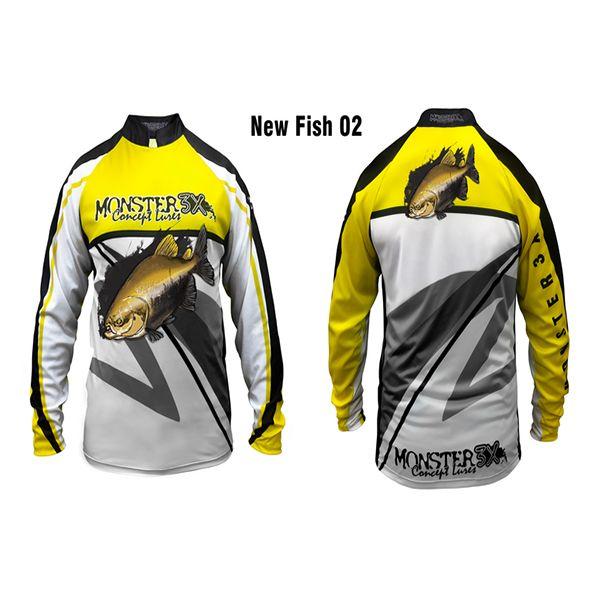 Camisa New Fish 02 Monster 3X Tambaqui - Nova Coleção  - Comprando & Pescando