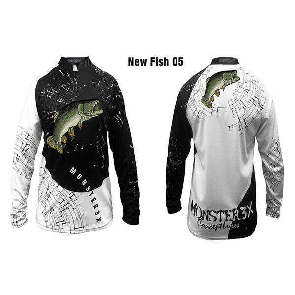 Camisa New Fish 05 Monster 3X Traira - Nova Coleção  - Comprando & Pescando