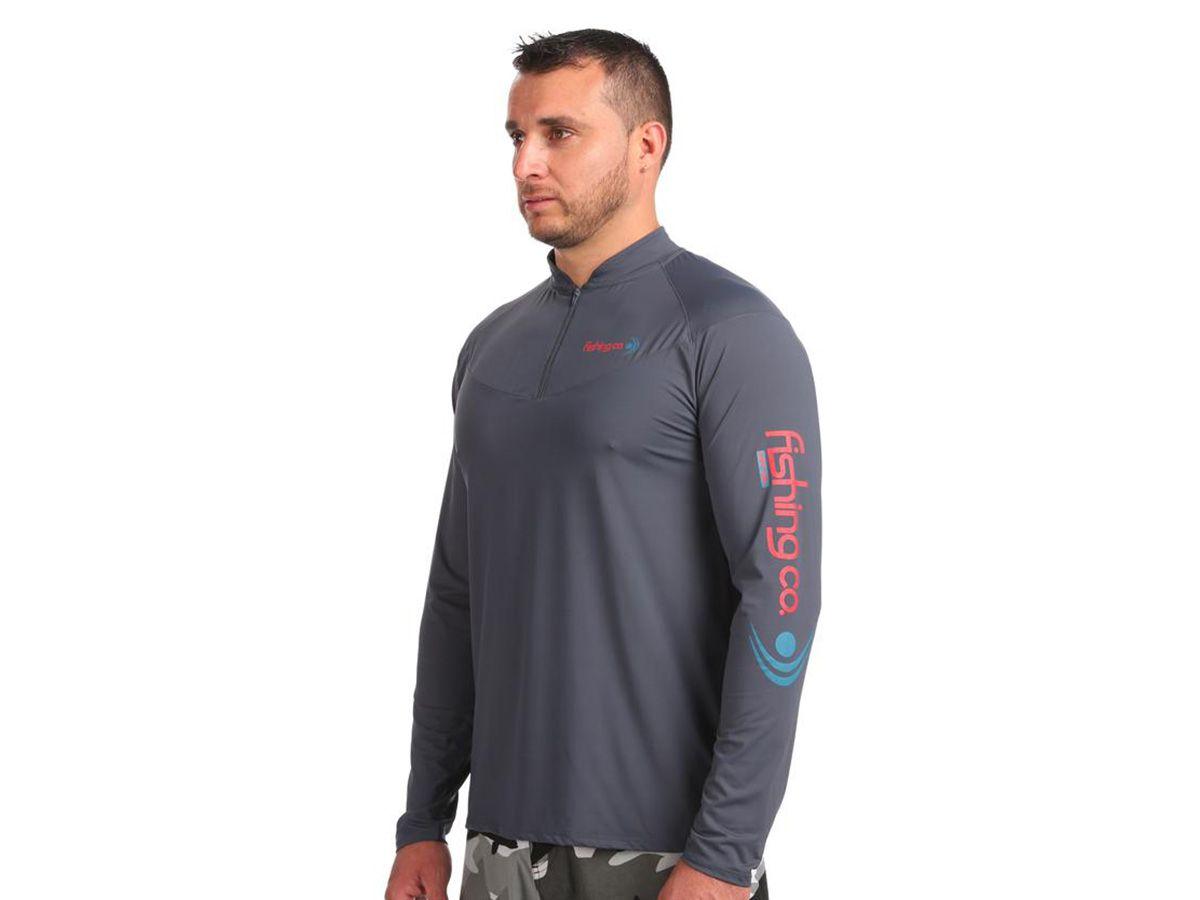 Camiseta Fishing Co Masculina com Zíper  - Comprando & Pescando