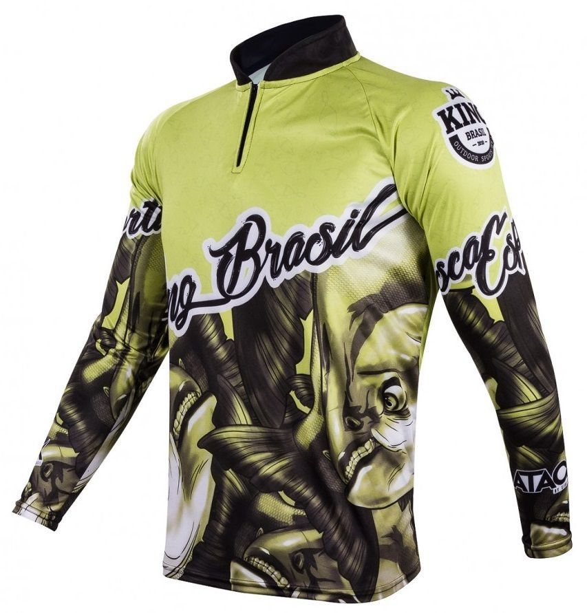Camiseta King Sublimada Attack 03 Tamba (Verde Claro)  - Comprando & Pescando