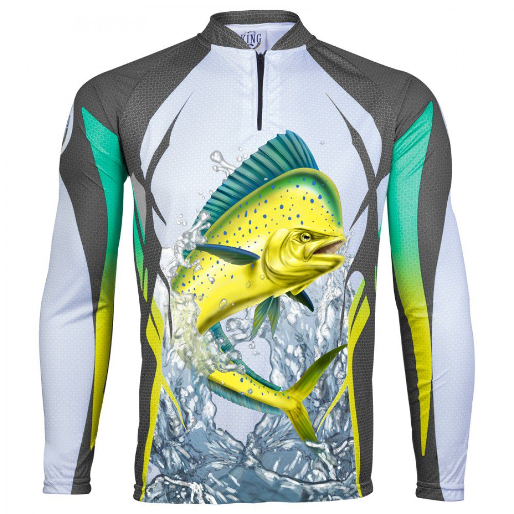Camiseta King Sublimada Dourado do Mar (KFF49)  - Comprando & Pescando