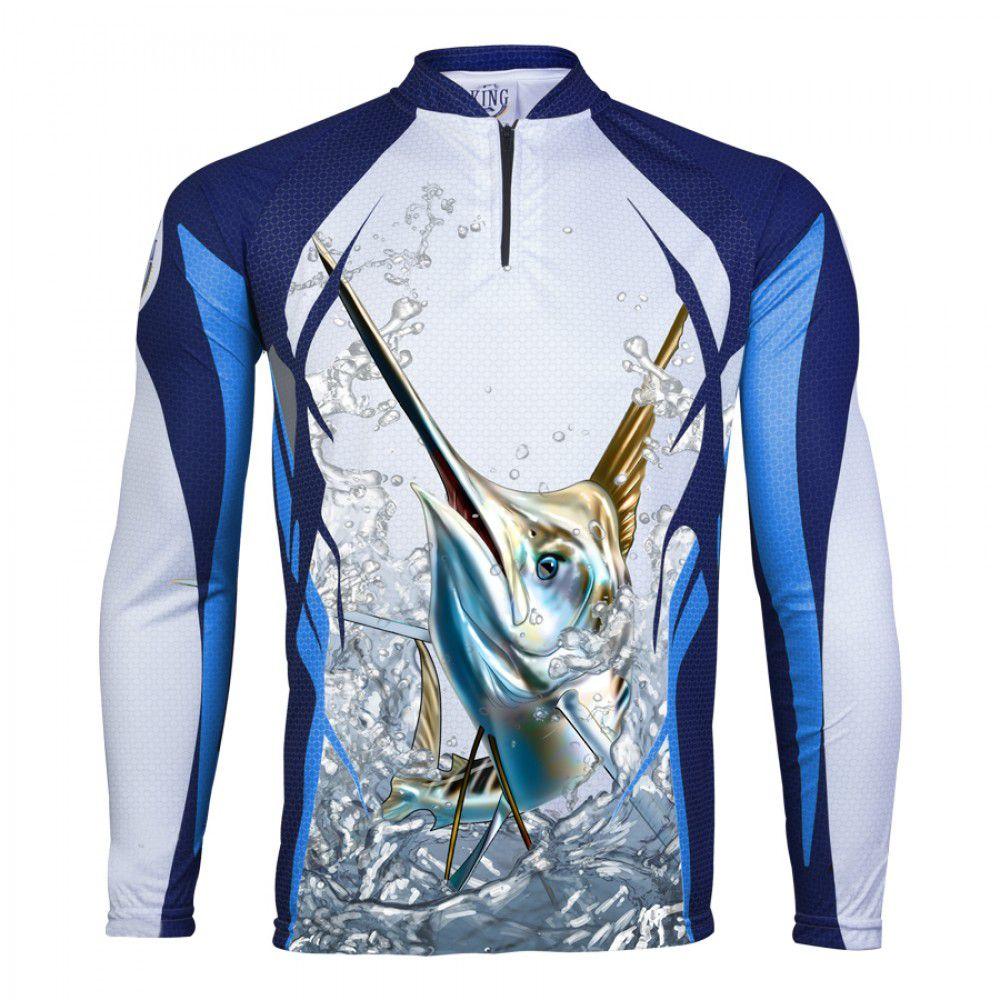 Camiseta King Sublimada Marlim (KFF32)  - Comprando & Pescando