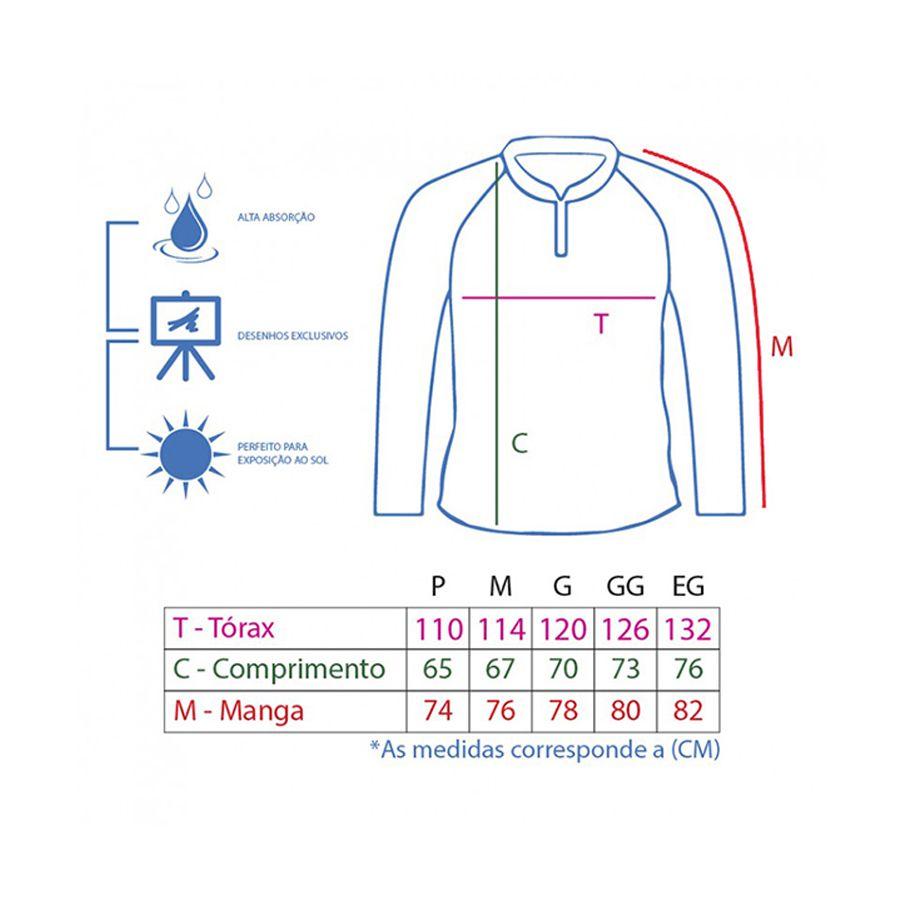 Camiseta King Sublimada Tamba (KFF59)  - Comprando & Pescando
