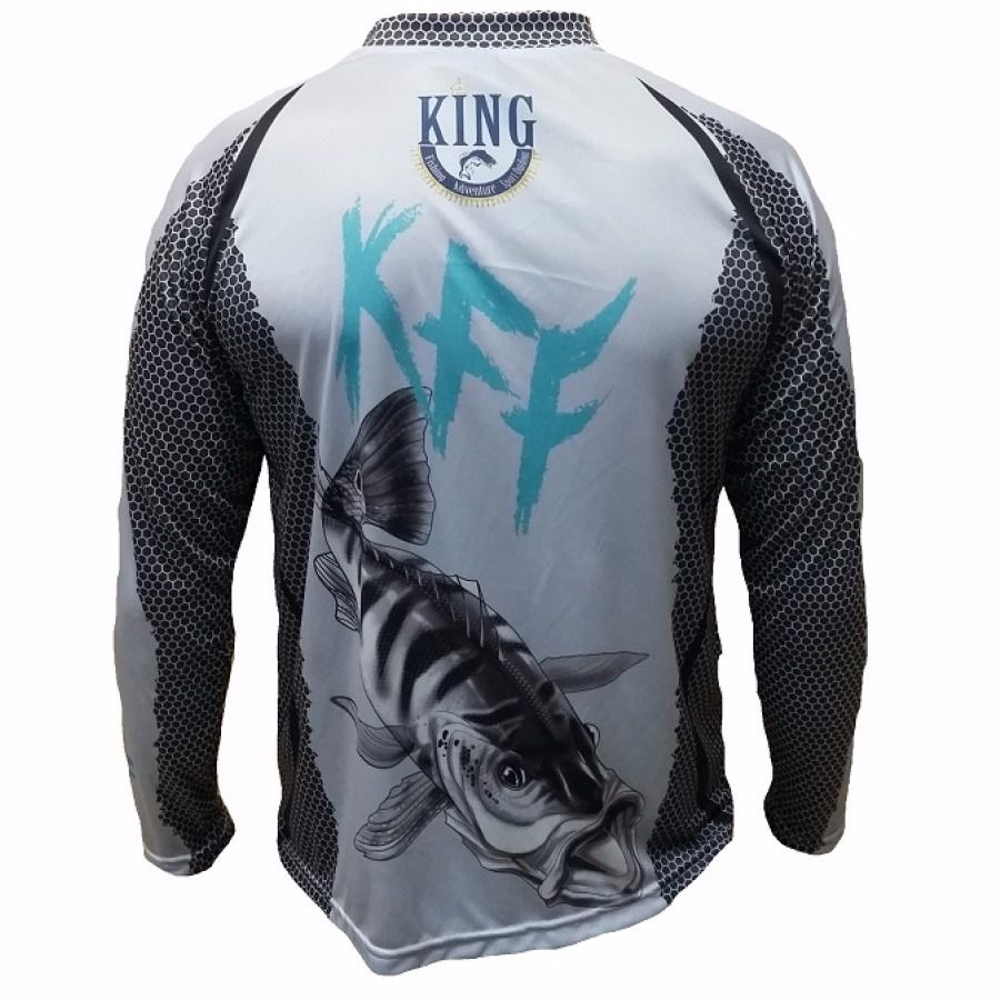 Camiseta King Sublimada Tucunaré Azul (KFF07)  - Comprando & Pescando