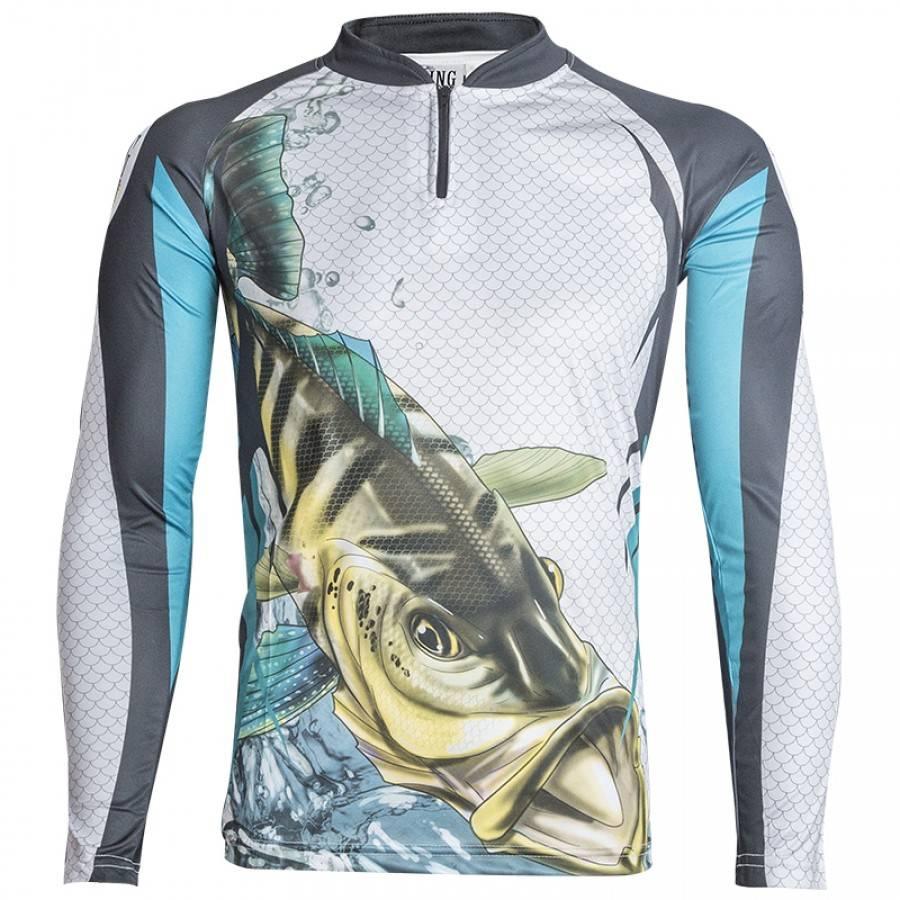 Camiseta King Sublimada Tucunaré Azul (KFF19)  - Comprando & Pescando