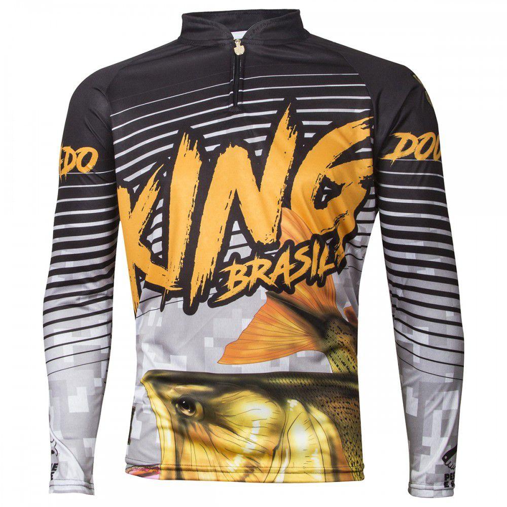 Camiseta King Sublimada Viking 03 Dourado  - Comprando & Pescando