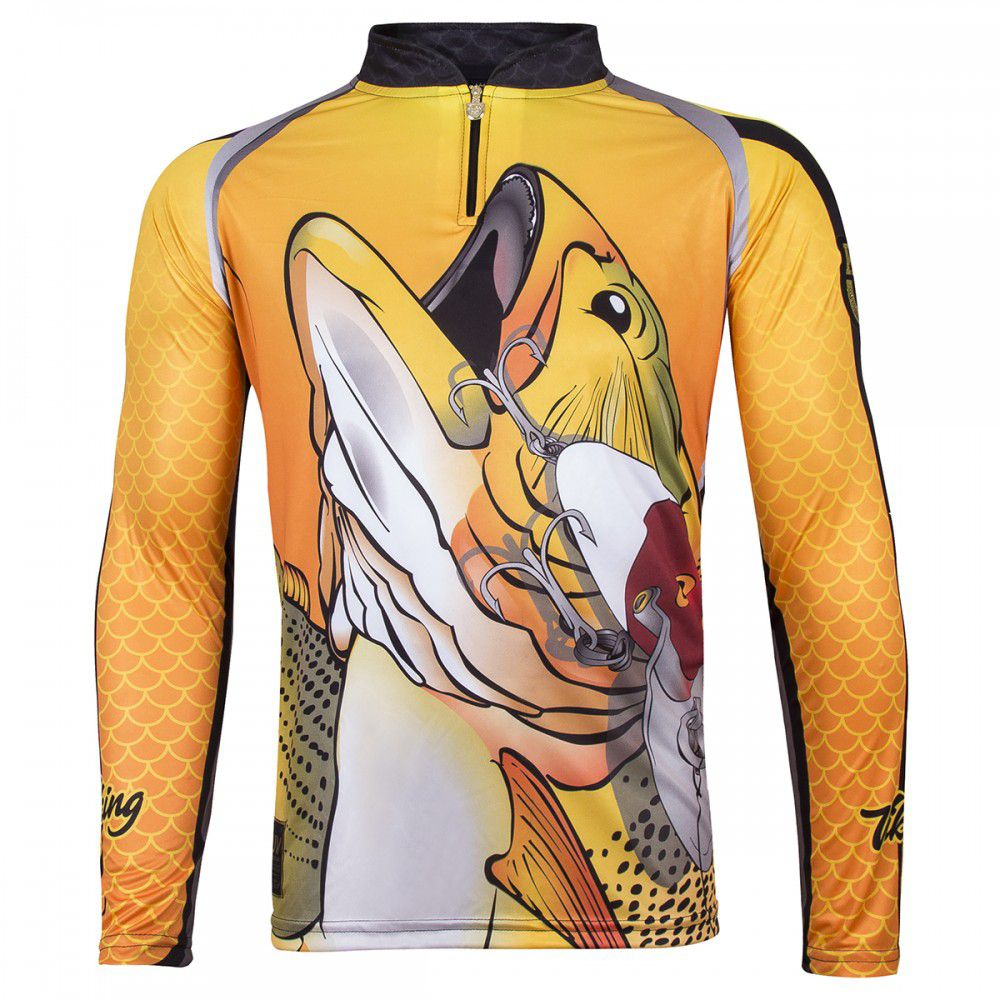 Camiseta King Sublimada Viking 12 Dourado  - Comprando & Pescando