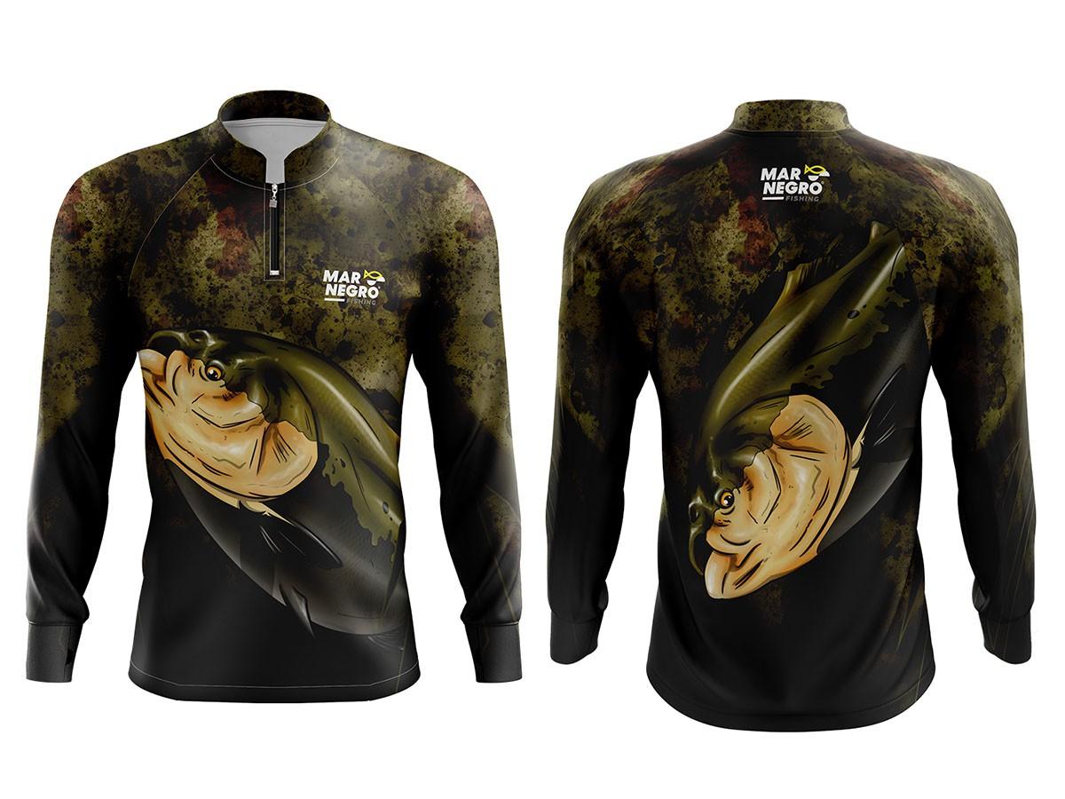 Camiseta Mar Negro Fishing c/ Proteção UV Peixes 2019 (Várias Estampas)  - Comprando & Pescando