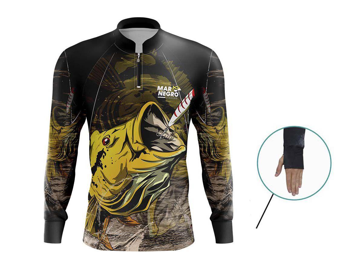 Camiseta Mar Negro Fishing New Tucunaré  - Comprando & Pescando