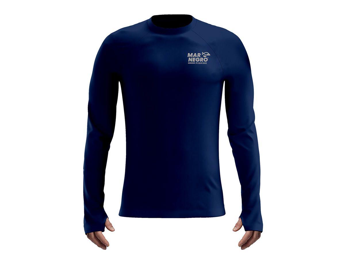 Camiseta Mar Negro Fishing Poliamida - Azul Marinho  - Comprando & Pescando