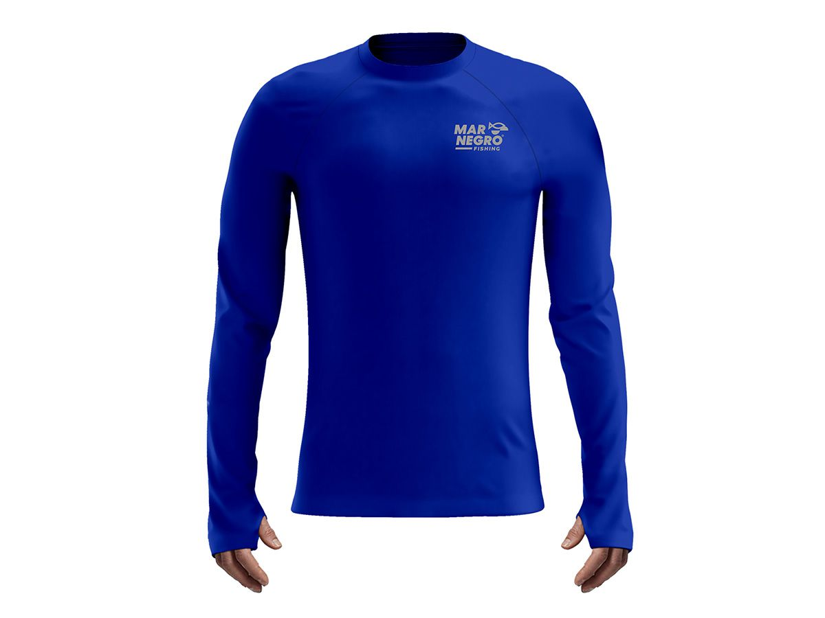 Camiseta Mar Negro Fishing Poliamida - Azul Royal  - Comprando & Pescando